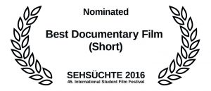 150324_award-auszeichnung_nominated_Best Documentary Film Short